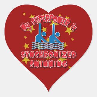 La ma superpuissance est natation synchronisée sticker cœur