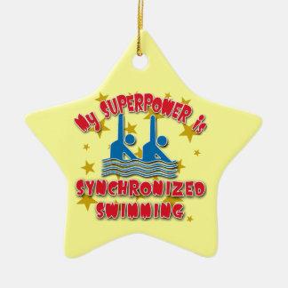 La ma superpuissance est natation synchronisée décorations pour sapins de noël