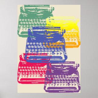 la machine à écrire - lumière affiches