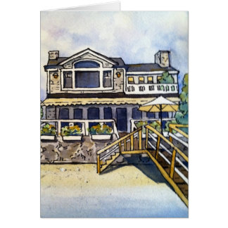 La maison de Schwary sur l'île de piscine Carte De Correspondance