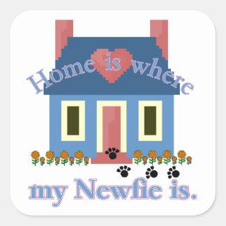 La maison de Terre-Neuve est Sticker Carré