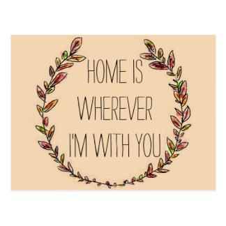 La maison est avec vous carte postale