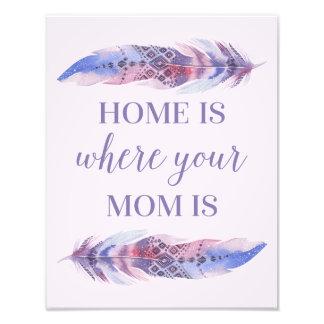 La maison est où votre maman a | ans impression photo