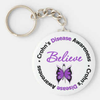 La maladie de Crohn croient le papillon de conscie Porte-clés