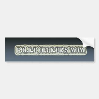 La maman du policier autocollant de voiture