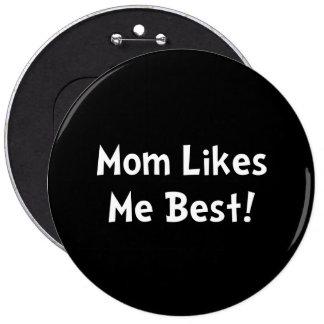 La maman m'aime meilleur macaron rond 15,2 cm