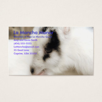 La Mancha Manor Business Card