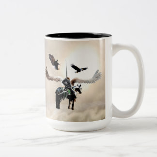 La manière du guerrier mug bicolore