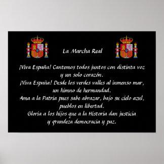 La Marcha Real (Spanish National Anthem) Poster