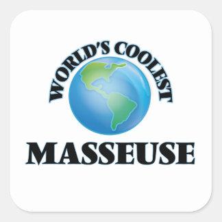 La masseuse la plus fraîche du monde sticker carré