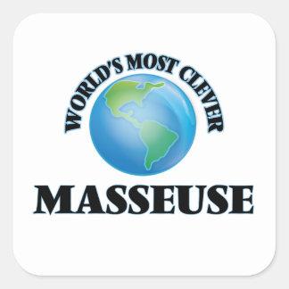 La masseuse la plus intelligente du monde stickers carrés