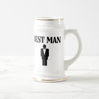 La meilleure bière Stein de mariage d'homme Tasse