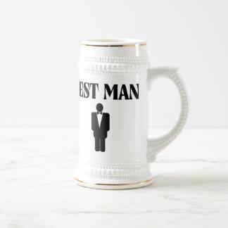 La meilleure bière Stein d'homme de mariage fait Chope À Bière