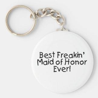 La meilleure domestique de Freakin de l'honneur ép Porte-clé Rond
