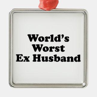La meilleure épouse ex du monde ornement carré argenté