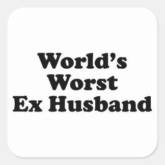 La meilleure épouse ex du monde sticker carré