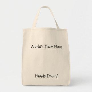 La meilleure maman du monde, mains vers le bas ! sac