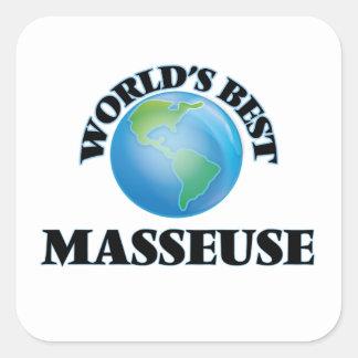 La meilleure masseuse du monde sticker carré