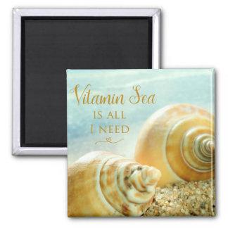 La mer de vitamine est toute que j'ai besoin magnet carré