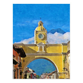 La Merced Arch - Antigua Postcard