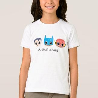 La mini ligue de justice dirige le croquis t-shirt