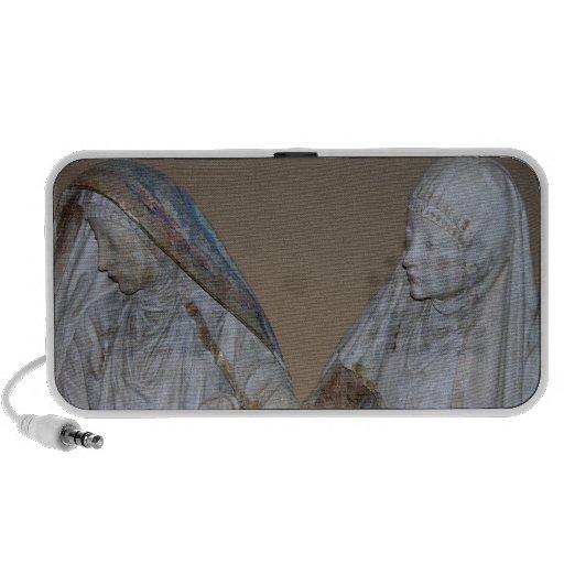La mise au tombeau, détail de deux des femmes sain haut-parleurs portables