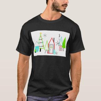 la moitié du siècle de village de Noël moderne T-shirt