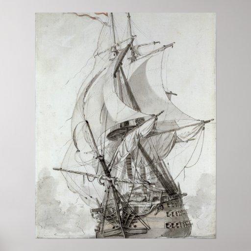 La Montagne, c.1794 (w/c pen & ink) Posters
