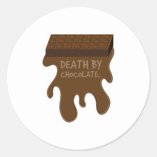 La mort par le chocolat adhésifs ronds