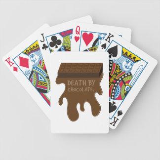 La mort par le chocolat jeu de 52 cartes