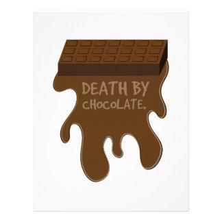 La mort par le chocolat en-tête de lettre customisable