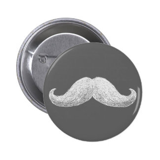 La Moustache (Dark) 2 Inch Round Button