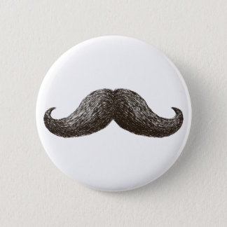 La Moustache (Light) 2 Inch Round Button