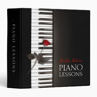 La musique classique de leçons de piano marque le classeurs vinyle
