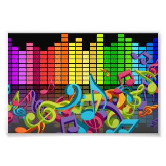 la musique colorée note des bruits d'égaliseur photographies d'art
