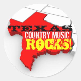 La musique country du Texas bascule des Autocollant Rond