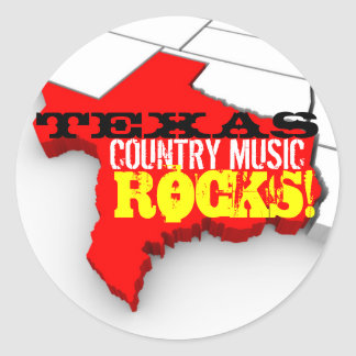 La musique country du Texas bascule des Sticker Rond