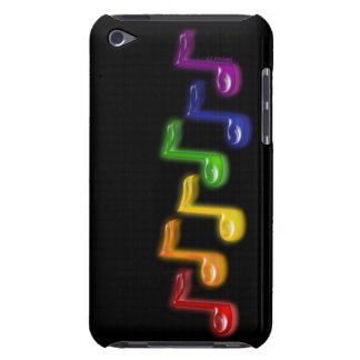 La musique d'arc-en-ciel note la caisse d'iPod Étui Barely There iPod