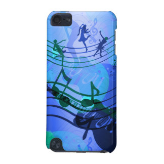 la musique de contact d'iPod note le blanc bleu