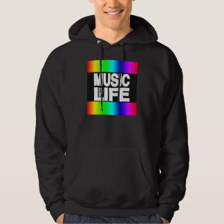 La musique est mon arc-en-ciel de la vie sweat-shirts avec capuche