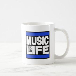 La musique est mon bleu de la vie mug blanc