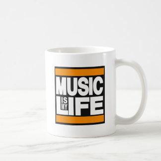 La musique est mon orange de la vie mug blanc