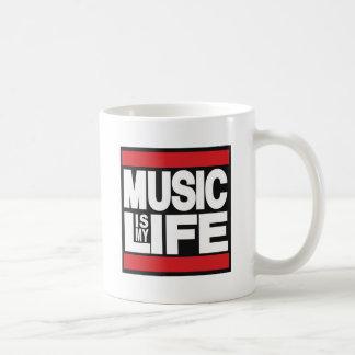 La musique est mon rouge de la vie mug blanc