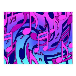 La musique lumineuse note le motif musical cartes postales