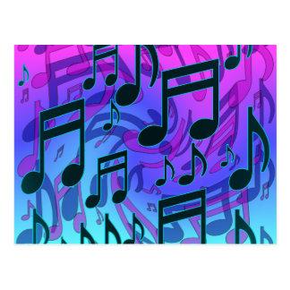 La musique note le bleu musical rêveur d Aqua de Cartes Postales