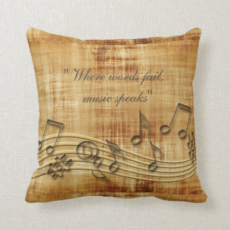 La musique note le carreau oreiller