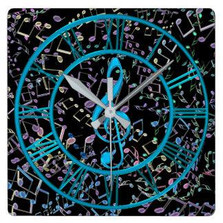 Note de musique horloges note de musique pendules murales - Horloge murale carree ...