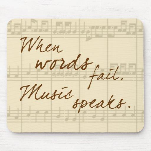 La musique parle tapis de souris