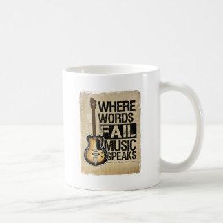 la musique parle tasse à café