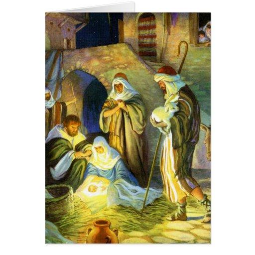 La naissance de la carte de Noël de Jésus